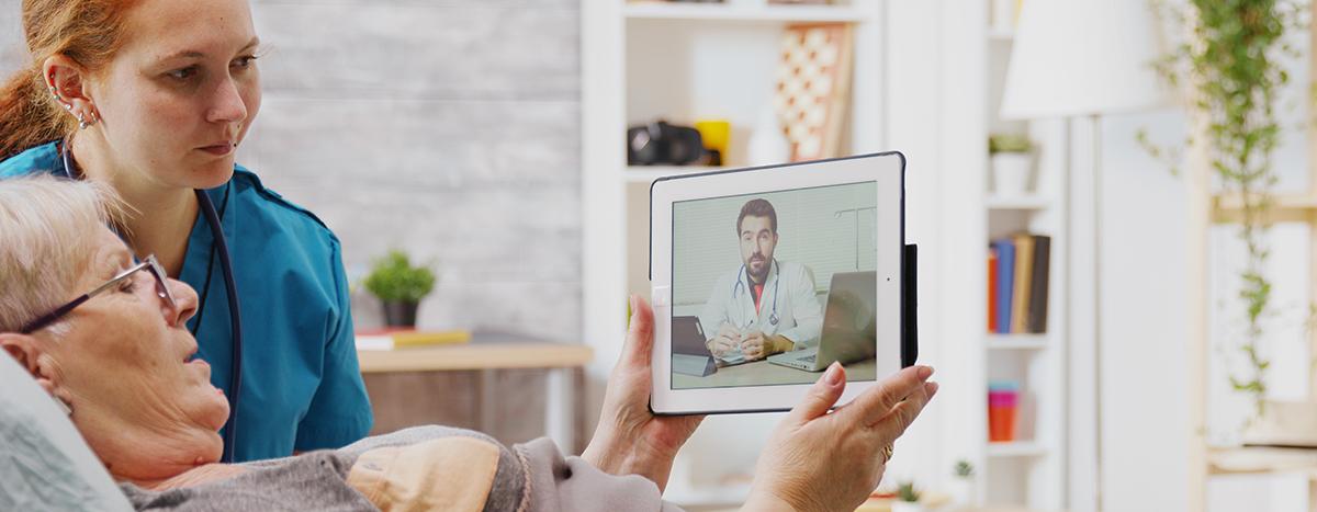 Pflegeheim: Videosprechstunde mit dem Arzt